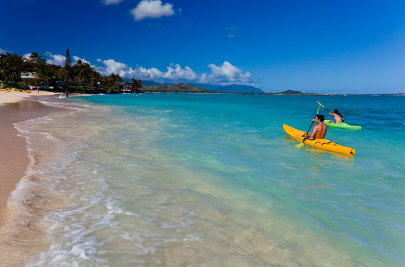Paddle away at Lanikai Beach