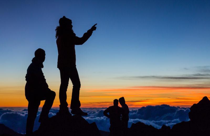 Haleakala's peak for sunrise.