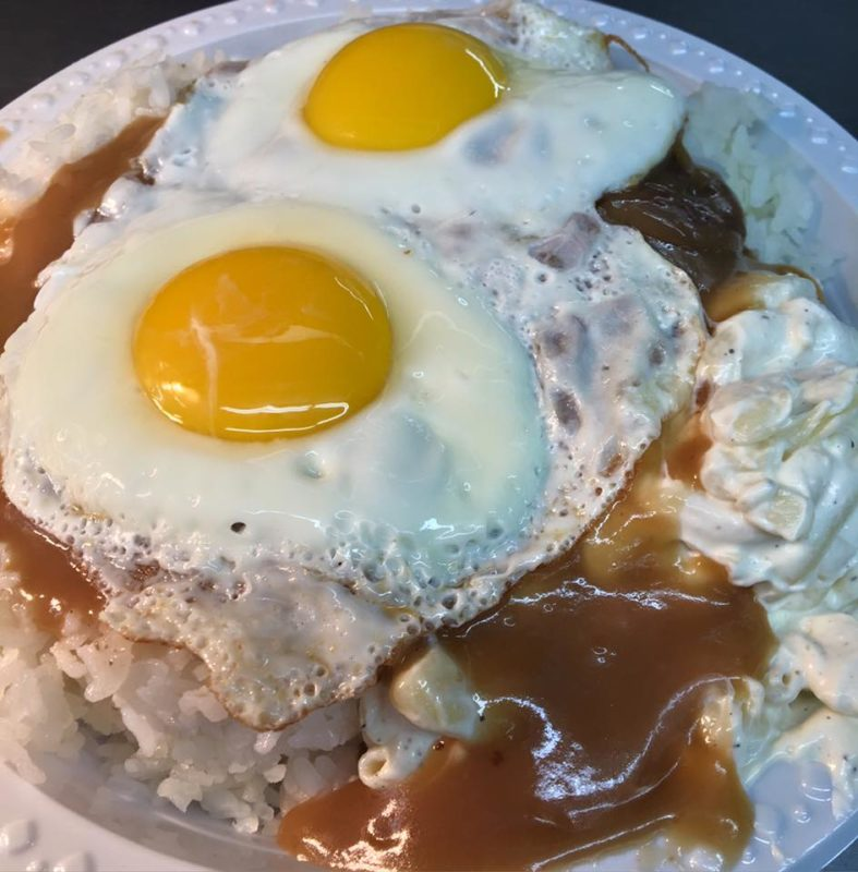 Rainbow Drive-In: Loco moco plate. Hawaii travel. Things to do in Oahu. Things to do in Hawaii.