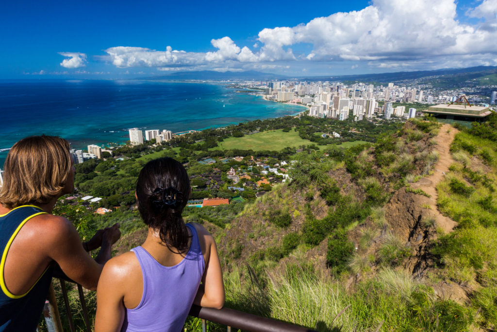 Beautiful view at the top of Diamond Head.