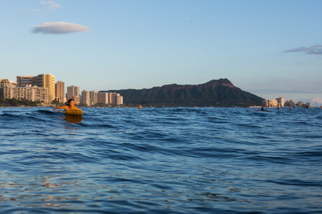 Diamond Head from Waikiki Beach.
