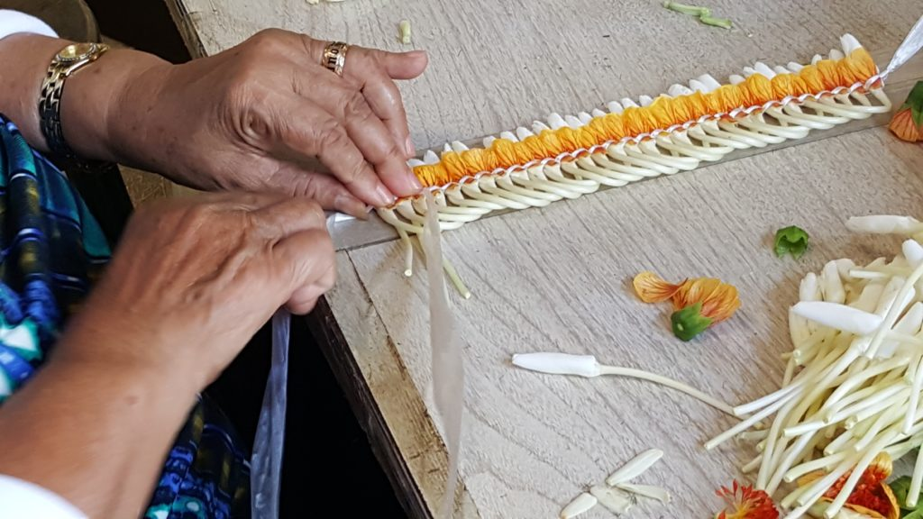 The ilima micronesian ginger lei is a unique and fragrant Hawaiian lei.