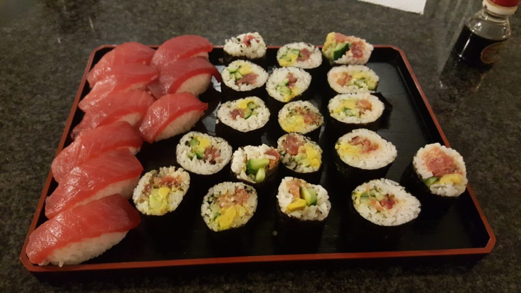 Homemade sushi from Aunty Sandy's Kitchen.
