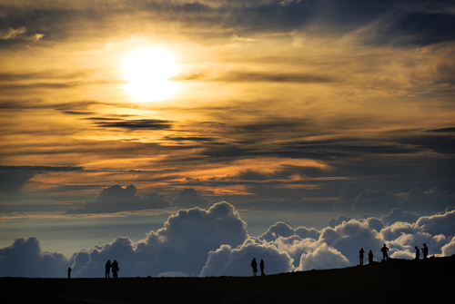 Haleakala National Park: Sunset. Hawaii travel. Things to do in Maui. Things to do in Hawaii.