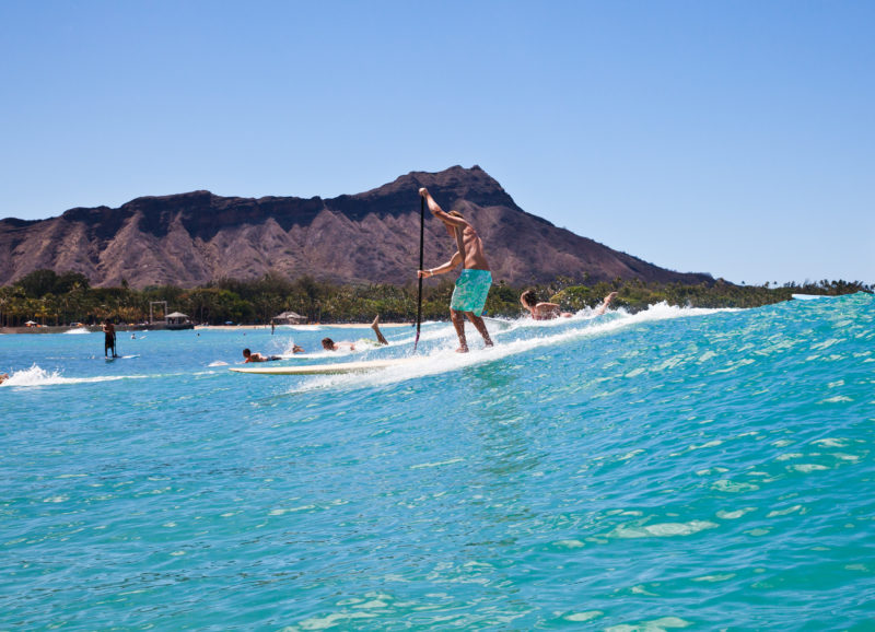 SUP surfing is also an option for the more adventurous traveler.