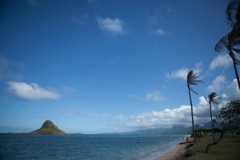 Check the tide before you walk to Chinaman's Hat.