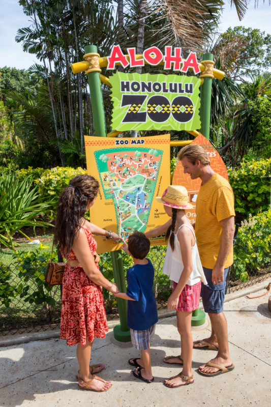 Honolulu Zoo guide map.