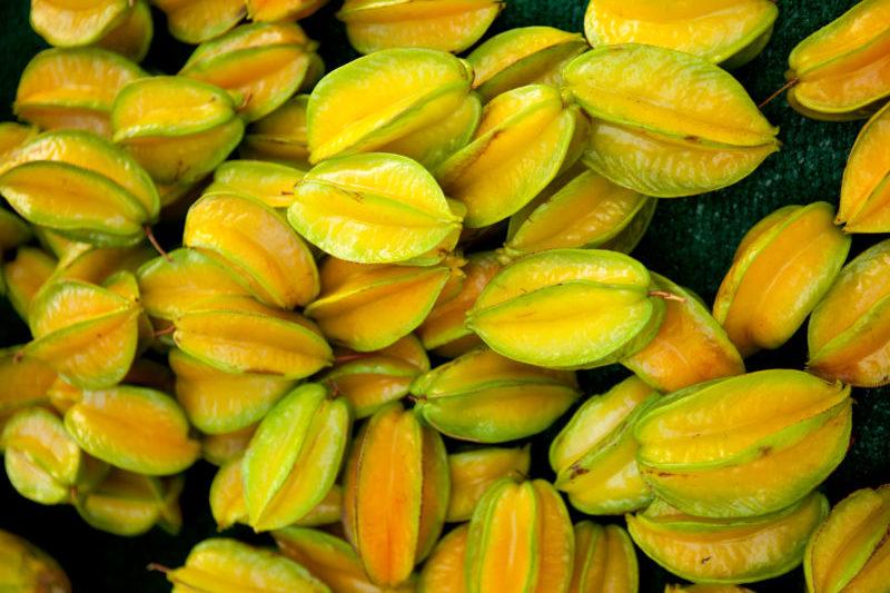 Fresh starfruit for sale.