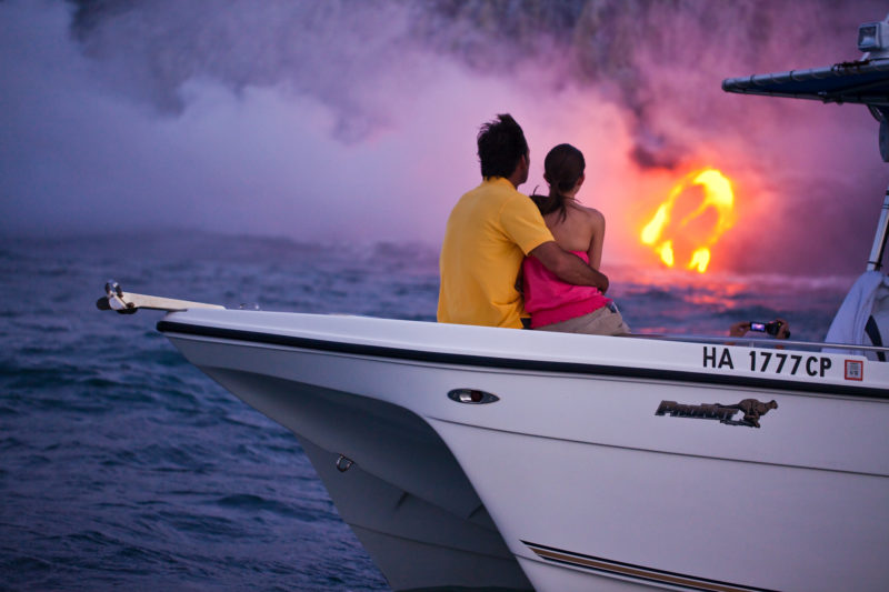 Romantic lava-viewing session.