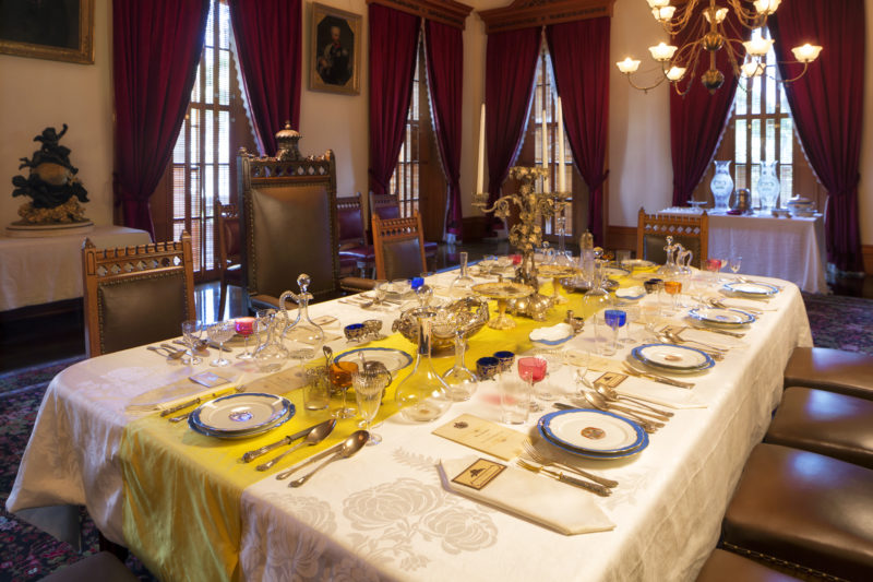 Iolani Palace dining table