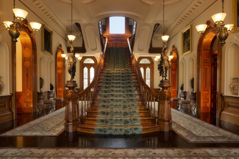 Iolani Palace grand staircase