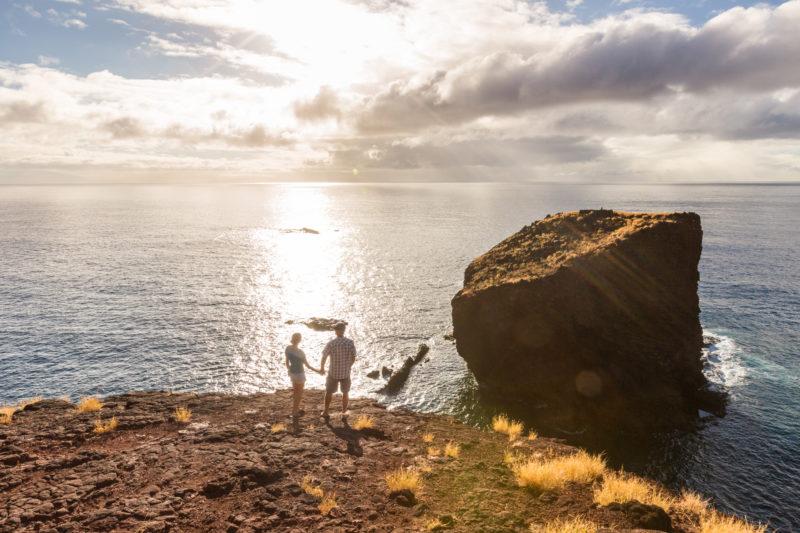 The best view of Puu Pehe Sweetheart Rock