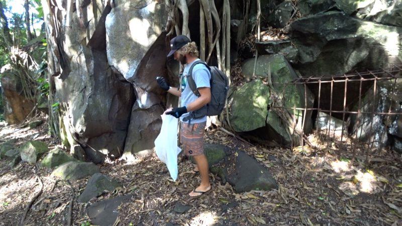Kapena Falls cleanup.