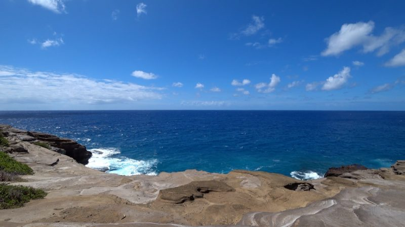 Panoramic ocean views from Spitting Caves.