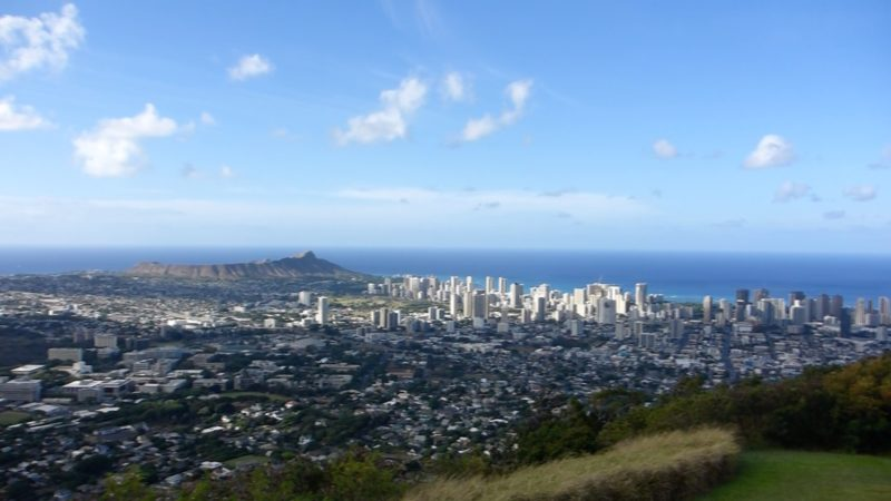 Diamond Head view from Tantalus.