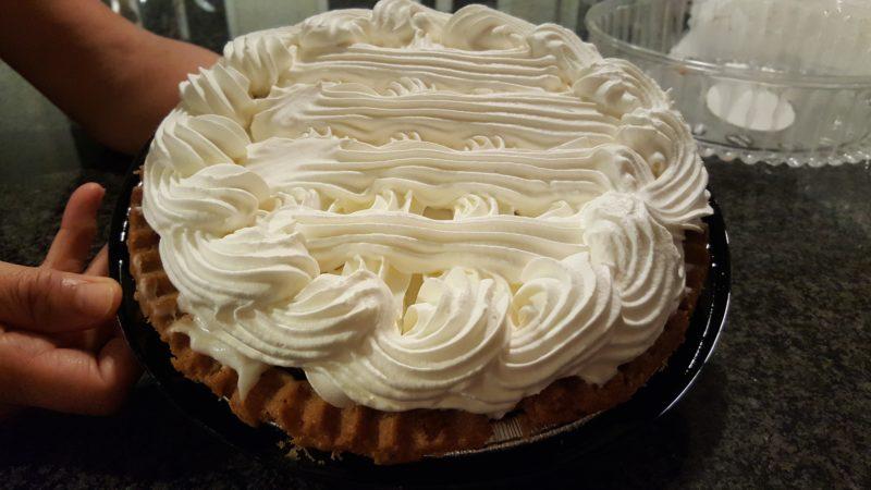 Sweet potato haupia pie from Ani's Bake Shop