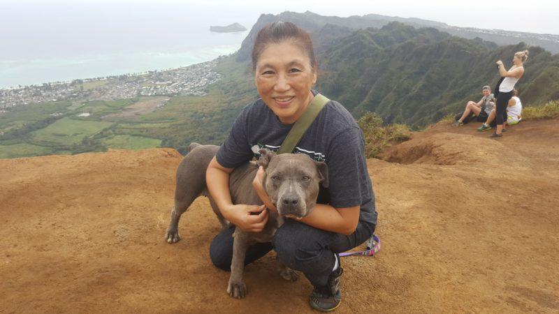 Daisy and Mom at Kuliouou Ridge Trail