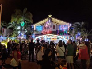 Christmas Lights at Anapau Place in Oahu, Hawaii