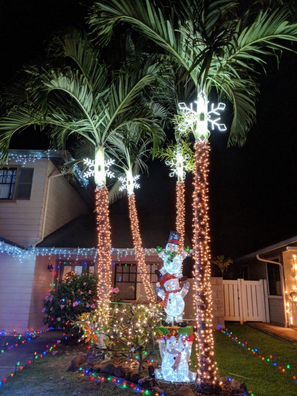 Anapau Place Christmas lights