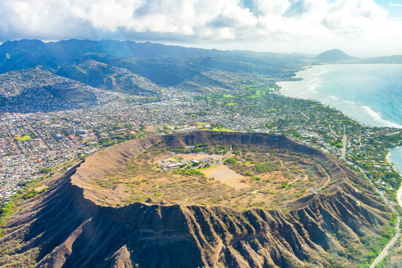 How to get to Diamond Head - The Diamond Head caldera.