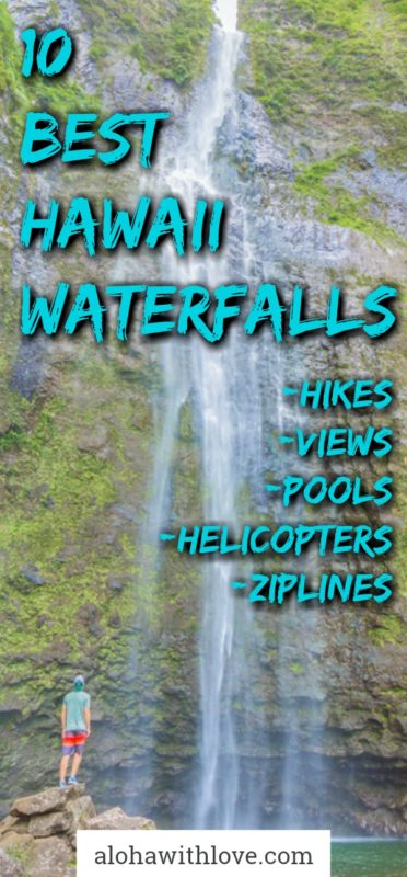 Hawaii waterfalls is one of the biggest attractions of the Hawaiian Islands. Here's a list by a local Hawaii girl about the very best waterfalls on these islands.