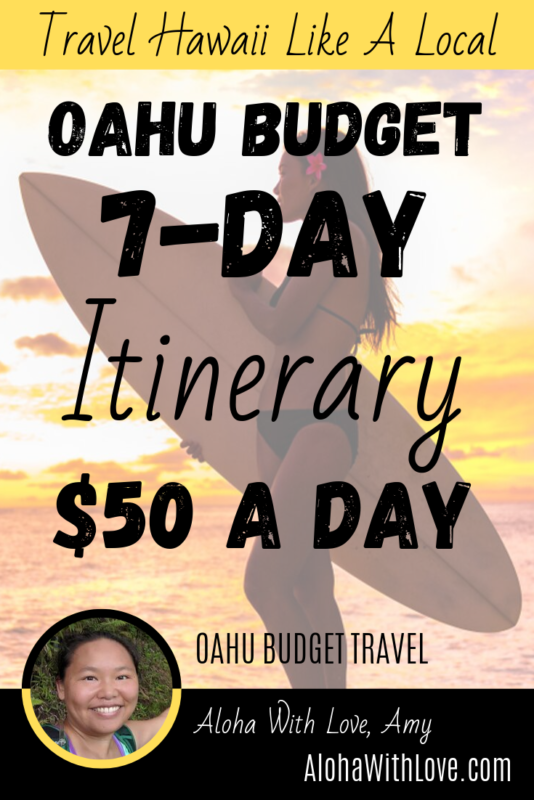 Oahu Budget - 7 Days At $50 A Day