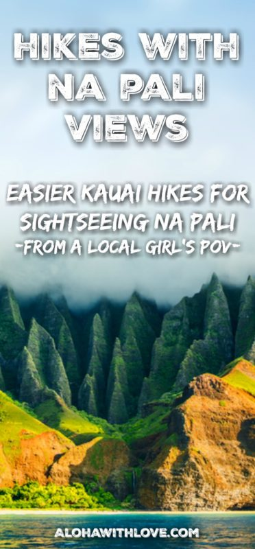 Kauai's gorgeous Na Pali cliffs, mountains and valleys can be expensive or dangerous to see, but it doesn't have to be. Here are a few easier and free Kauai hikes where you can see Na Pali. Tips from a local Hawaii girl.