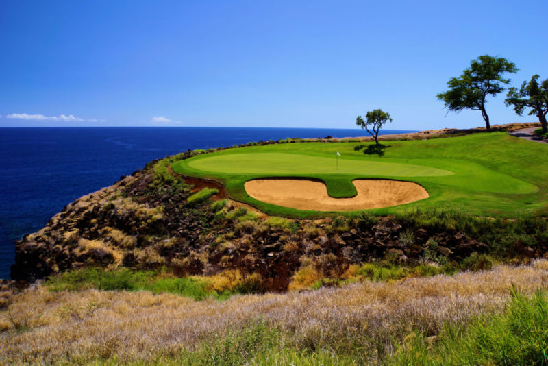 Manele Golf Course in Lanai is designed by Jack Nicklaus and calls the Four Seasons Resort Lanai its home.