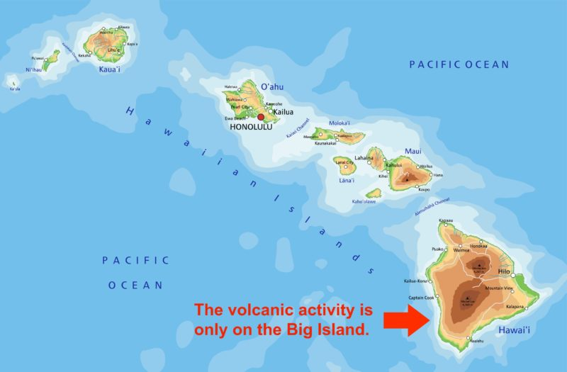 Big Island volcano tours are on Hawaii Island.
