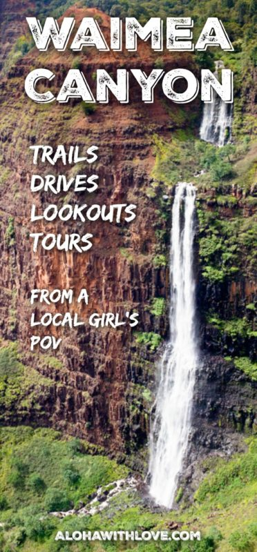 Headed to Waimea Canyon on Kauai? Don't miss the best Waimea Canyon trail, points of interest and the variety of tours that's offered here. Tips from a local Hawaii girl.