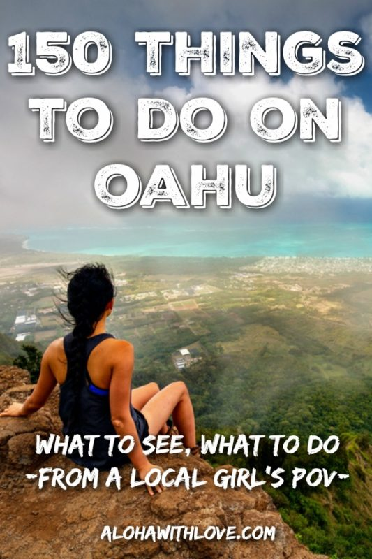 Planning an Oahu, Hawaii itinerary? Need some ideas for your Hawaiian wedding? How about activities for the kids, grandpa and grandma? Here are 150 things to do on Oahu from a local girl's POV.