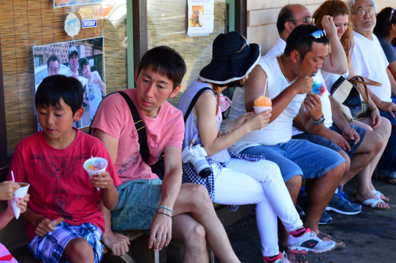 150 Things To Do On Oahu - Stand in line for Matsumoto's shave ice.