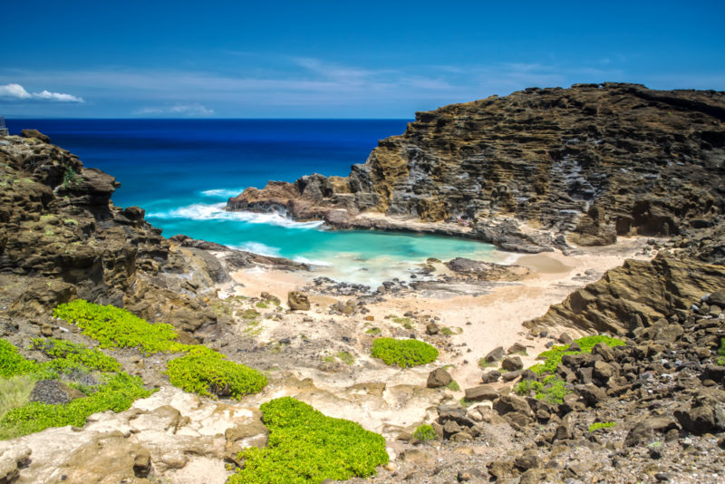150 Things To Do On Oahu - Cockroach Cove or Halona cove.
