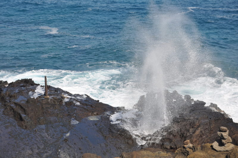 Halona blowhole is a must-see but pay attention to the warning signs.