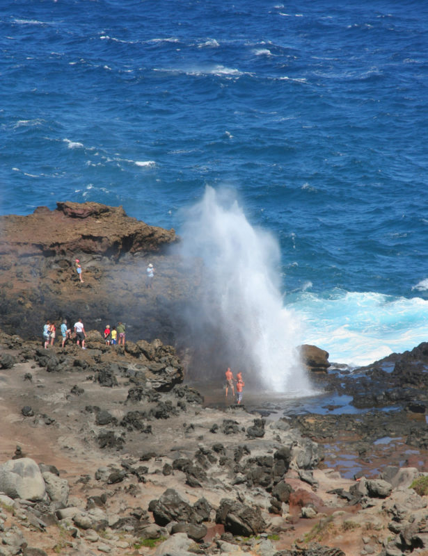 Halona blowhole is located in a dangerous spot so don't get too close.