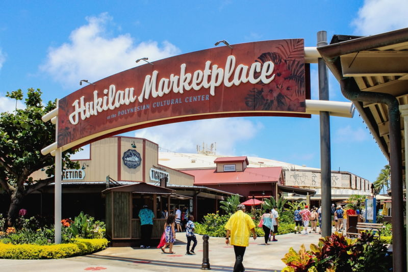 Polynesian Cultural Center shopping area.