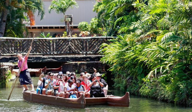 Polynesian Cultural Center canoe ride.
