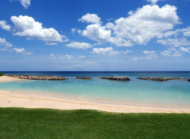 One of the Ko Olina lagoons with no one in sight.