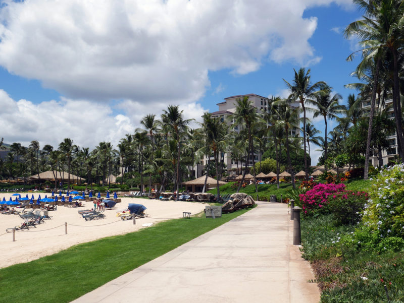 Most of the pathways along the Ko Olina Lagoons are well-paved and wide.