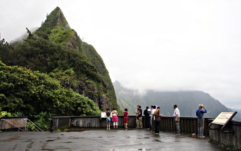 Nuuanu Pali lookout first level.