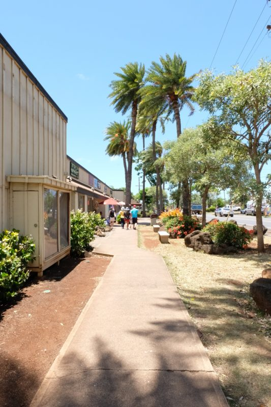 Walking my way through Haleiwa Town.