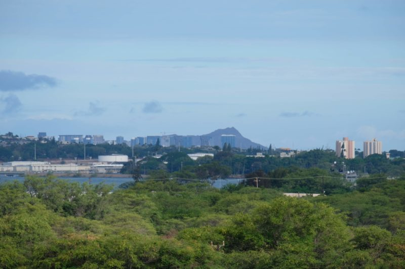 The Best Lookout For Pearl Harbor Ships Is At Leeward Community College - Diamond Head.