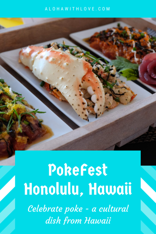 PokeFest Is A Culinary Explosion For Foodie Travelers In Oahu and I highly recommend that you go if you're in Oahu during the month of September! King crab poke, hamachi poke, fresh roe, crunchy ogo, smoked scallops, strips of jellyfish...let me tell you, it was the works! -Aloha with love, from a local Hawaii girl.