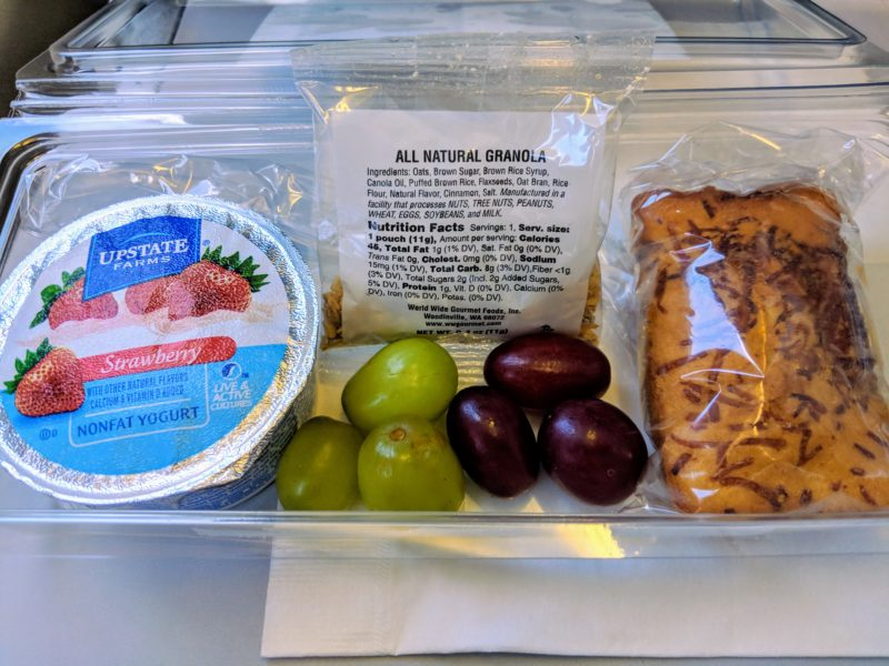 The un-Hawaiian breakfast provided by Hawaiian Airlines on my flight to and from Los Angeles.