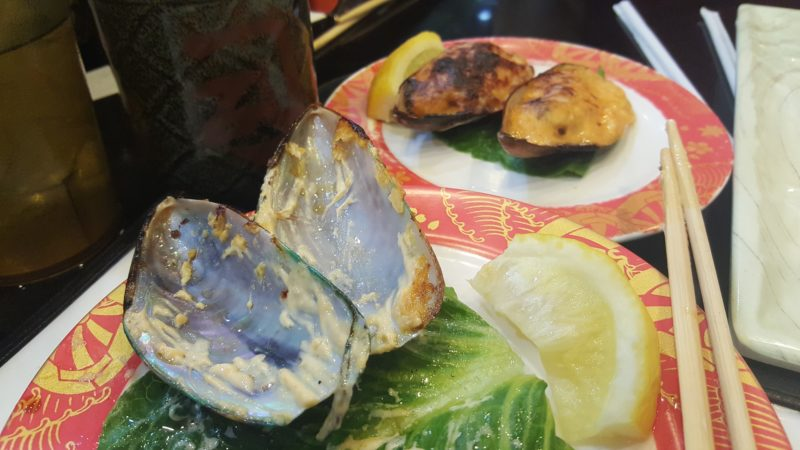 Baked mussels were so worth it at Kazoku Sushi.