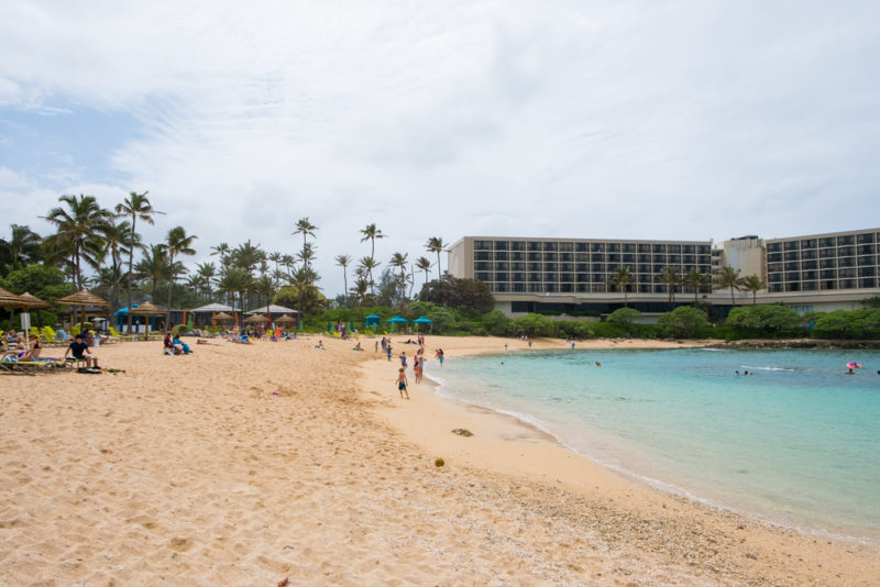 Turtle Bay Resort's Kuilima Cove is great for beginner snorkelers. The Best Beaches In Oahu's North Shore For Families.