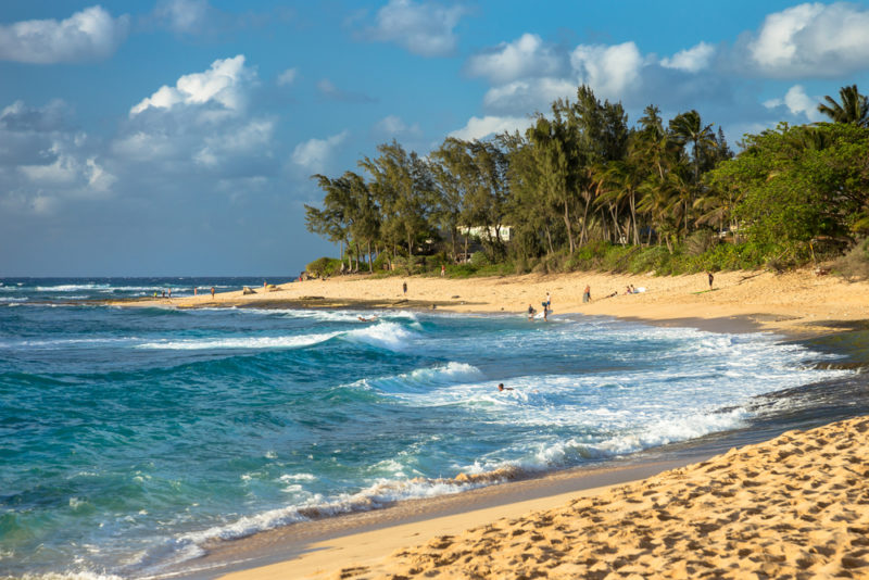 Sunset beach is spectacular! The Best Beaches In Oahu's North Shore For Families.