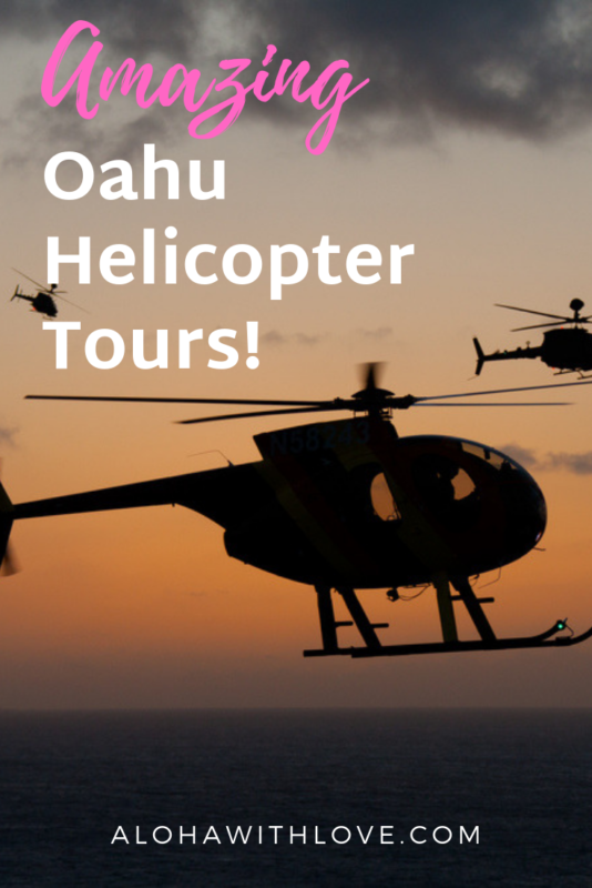 If you can only choose one amazing tour in Oahu, don\'t hesitate to go for an Oahu helicopter tour. The aerial views are amazing and you can even ride a helicopter tour with the doors off!