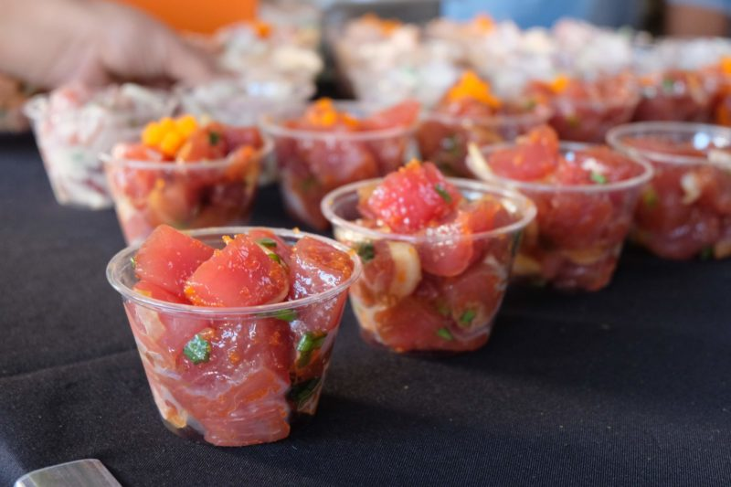Fresh ahi poke at the PokeFest.
