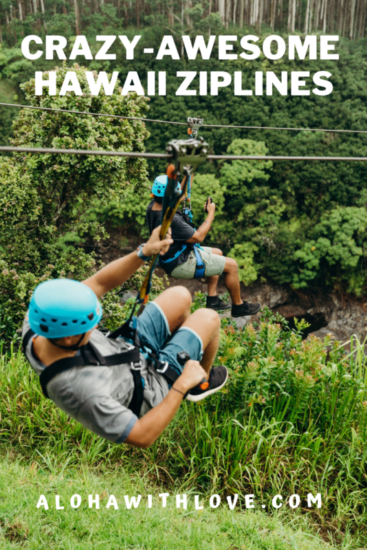 Are you ready to add some fun to your Hawaii vacation? Ziplining in Hawaii is crazy-awesome and it is perfect for children, adults of any age, couples and friends. Here are the best Hawaii ziplines across the state so pick your favorite! - Ziplining in Hawaii | Hawaii ziplines | Maui ziplines | Kauai ziplines | Big Island ziplines | ziplining in Maui | ziplining in Kauai | ziplining on the Big Island | ziplining adventures | Hawaii bucket lists | Hawaii things to do | Hawaii activities